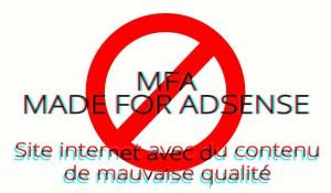 MFA, des sites Web avec du contenu de mauvaise qualité